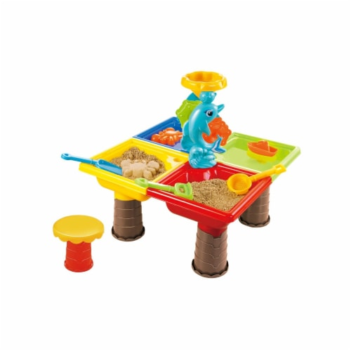 Beach Toys Sand and Water Activity Table Set 25pcs dolphin Perspective: front