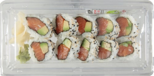 Salmon-Avocado Roll - Clean Perspective: front