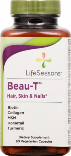 Life Seasons Beau-T Hair Skin and Nails Dietary Supplement Capsules Perspective: front