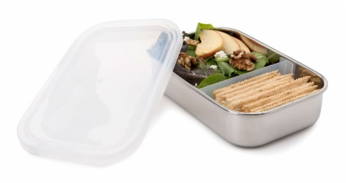 U Konserve  Divided Rectangle Stainless Steel Container Clear Perspective: front