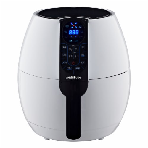 GoWISE USA 3.7-Quart Programmable Air Fryer, White Perspective: front