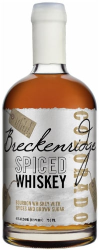 Breckenridge Distillery Spiced Bourbon Whiskey Perspective: front