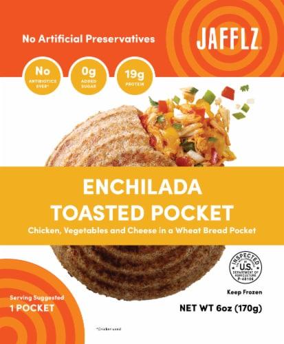 Jafflz Enchilada Toasted Pocket Perspective: front
