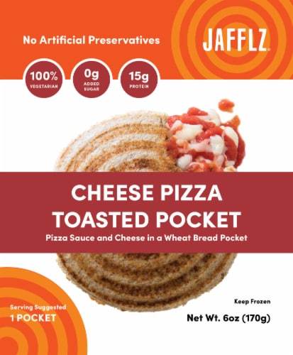 Jafflz Cheese Pizza Toasted Pocket Perspective: front