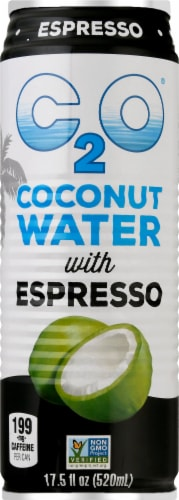 C2O Coconut Water with Espresso Perspective: front