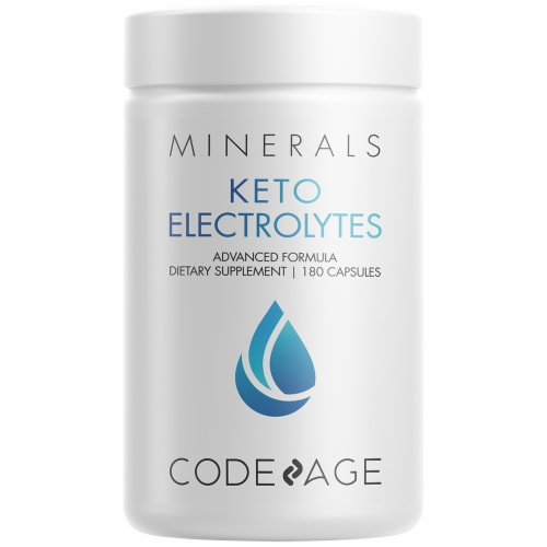 Codeage Keto Electrolytes Dietary Supplement Capsules Perspective: front