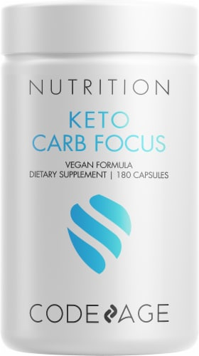 Codeage Keto Carb Blocker Dietary Supplement Capsules Perspective: front