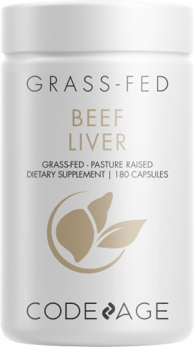 Codeage Grass-Fed Beef Liver Capsules Perspective: front