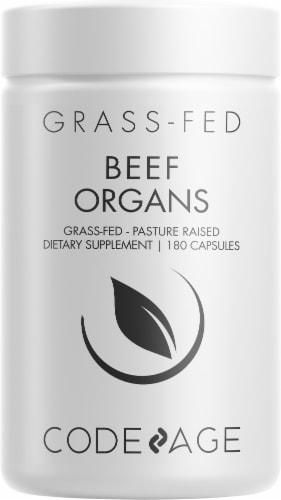 Codeage Grass-Fed Beef Organs Dietary Supplement Perspective: front
