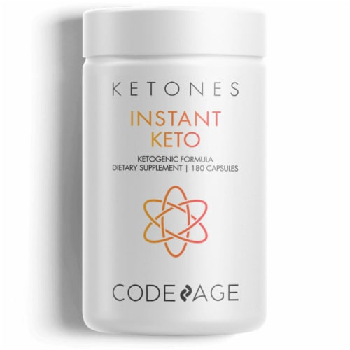 Codeage Instant Keto Advanced Formula Dietary Supplement Perspective: front