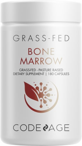 Codeage Grass-Fed Bone Marrow Supplement Capsules Perspective: front