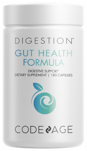 Codeage Gut Health Formula Digestive Support Capsules Perspective: front