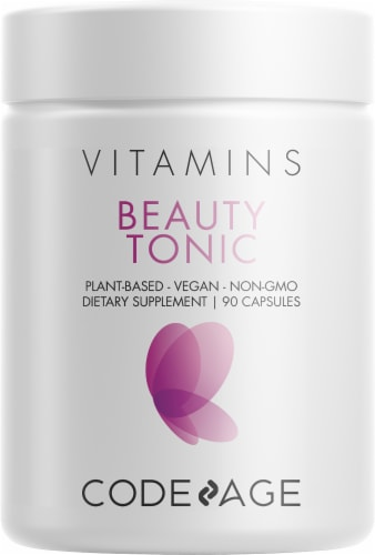 Codeage Vitamins Beauty Tonic Capsules Perspective: front