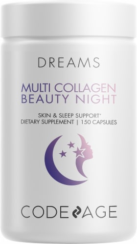 Codeage Multi Collagen + Sleep Supplement Capsules Perspective: front