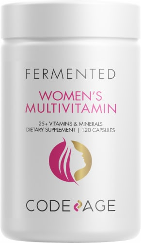 Codeage Fermented Women's Daily Multivitamin Capsules Perspective: front