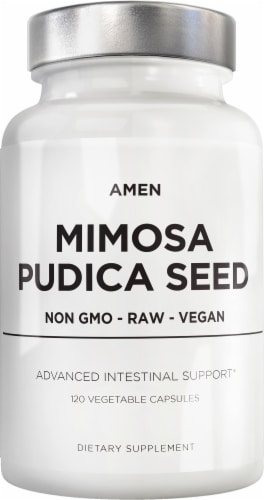 Codeage Advanced Intestinal Support Amen Mimosa Pudica Seed Dietary Supplement Perspective: front