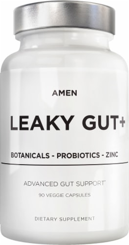 Codeage Amen Leaky Gut Probiotic and Prebiotic Capsules Perspective: front