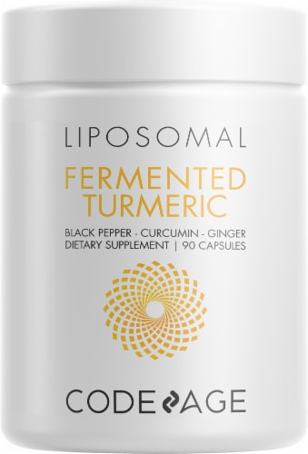 Codeage Fermentec Turmeric Capsules Perspective: front