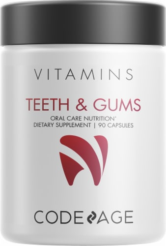 Codeage Oral Care Nutrition Teeth & Gums Probiotic Dietary Supplement Perspective: front