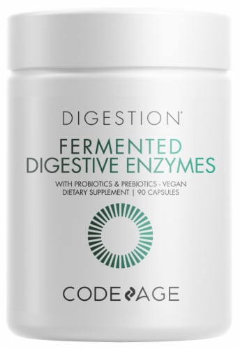 Codeage Fermented Digestive Enzymes Supplement Capsules Perspective: front