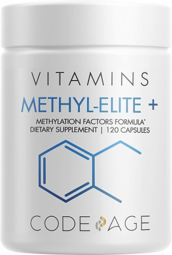 Codeage Methyl-Elite Riboflavin + Supplement Capsules Perspective: front