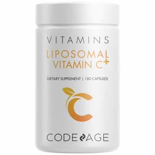 Codeage Liposomal Vitamin C Capsules 1500mg Perspective: front