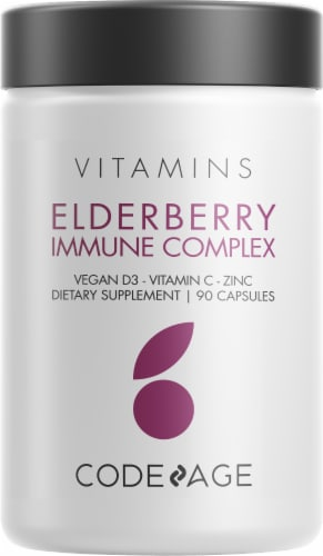 Codeage Elderberry Immune Complex Dietary Supplement Vitamins Perspective: front