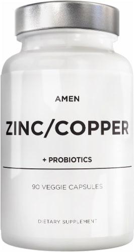 Codeage Amen ZInc & Copper Probiotic Capsules Perspective: front