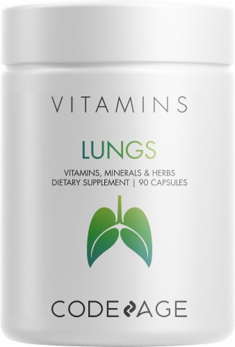 Codeage Lungs Vitamins, Minerals, & Herbs Dietary Supplement Perspective: front