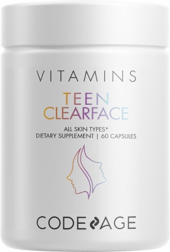 Codeage Teen Clearface Vitamin Capsules Perspective: front
