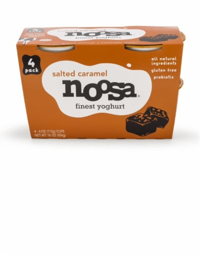 Noosa Salted Caramel Yoghurt 4 Count Perspective: front