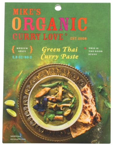 Curry Love Organic Medium Spicy Green Thai Curry Paste Perspective: front
