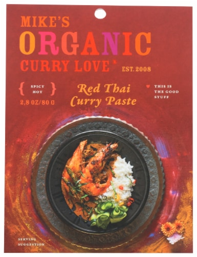 Curry Love Organic Spicy Hot Red Thai Curry Paste Perspective: front