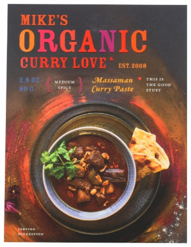 Curry Love Organic Medium Spicy Massaman Curry Paste Perspective: front