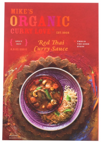 Curry Love Organic Spicy Hot Red Thai Curry Sauce Perspective: front