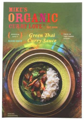 Curry Love Organic Green Thai Curry Simmer Sauce Perspective: front