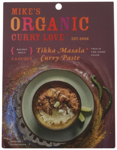 Mike's Organic Foods Tikka Masala Curry Paste Perspective: front