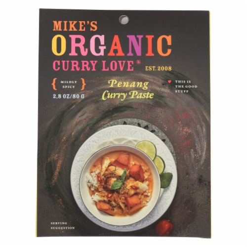 Mike's Organic Foods Penang Curry Paste Perspective: front