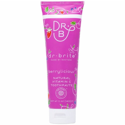 Dr. Brite  Kid's Natural Vitamin C Toothpaste    Berrylicious Perspective: front