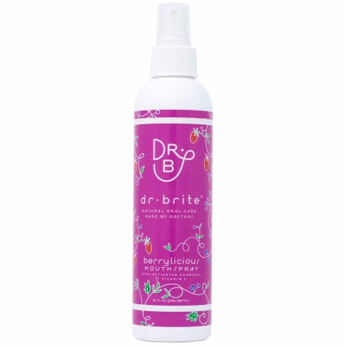 Dr. Brite  Kid's Natural Mouth Rinse Spray    Berrylicious Perspective: front