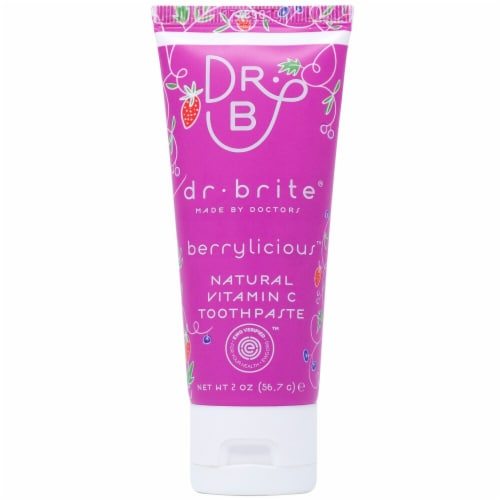 Dr. Brite  Kid's Natural Vitamin C Toothpaste Travel Size   Berrylicious Perspective: front