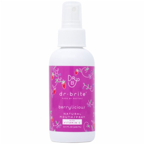 Dr. Brite  Kid's Natural Mouth Rinse Spray Travel Size   Berrylicious Perspective: front