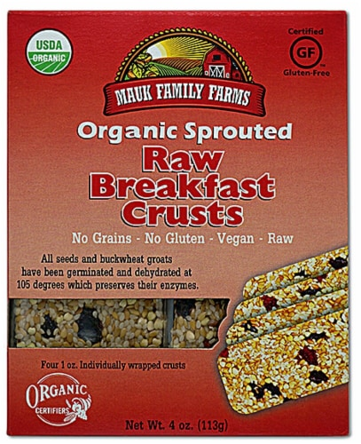 Mauk Family Farms  Organic Sprouted Raw Breakfast Crusts Perspective: front
