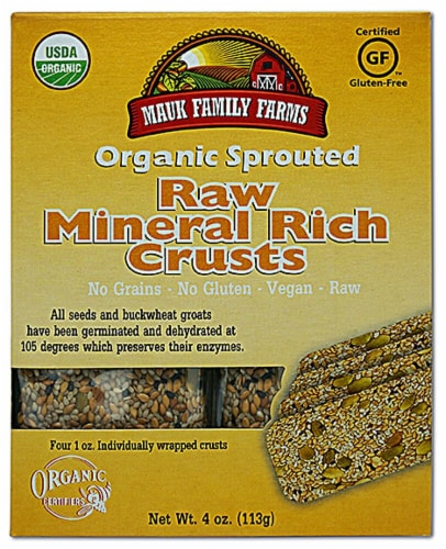 Mauk Family Farms  Organic Sprouted Raw Crusts   Mineral Rich Perspective: front