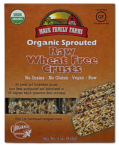 Mauk Family Farms  Organic Sprouted Raw Crusts   Wheat Free Perspective: front