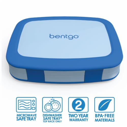 Bentgo Kids Leak Proof Chidren's Lunch Box - Blue Perspective: front