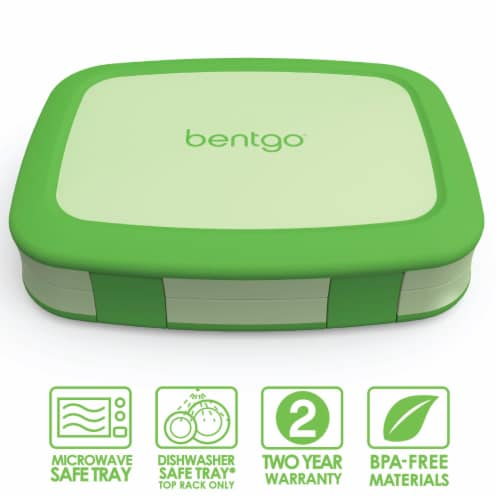 Bentgo Kids Chidrens Leak Proof Lunch Box - Green Perspective: front