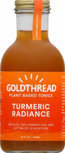 Goldthread Plant Based Tonics Turmeric Radiance Perspective: front