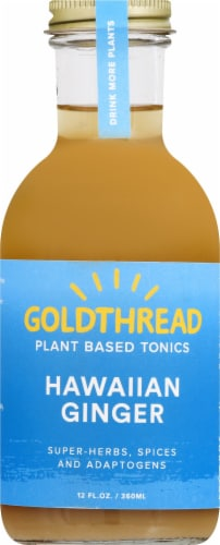 Goldthread Herbs Plant Based Tonics Hawaiian Ginger Perspective: front