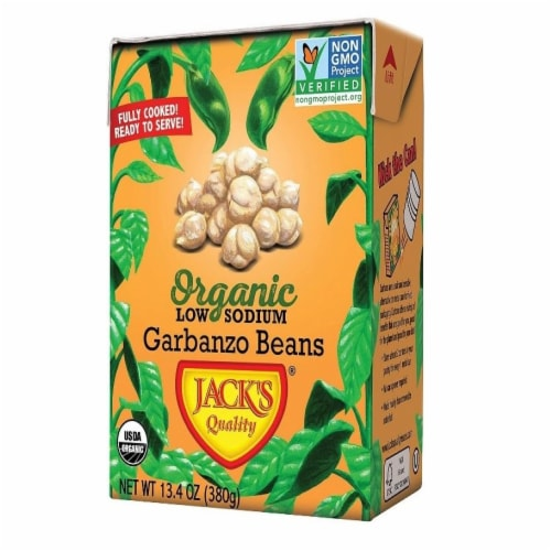 Jack's Quality Low Sodium Garbanzo Beans Perspective: front